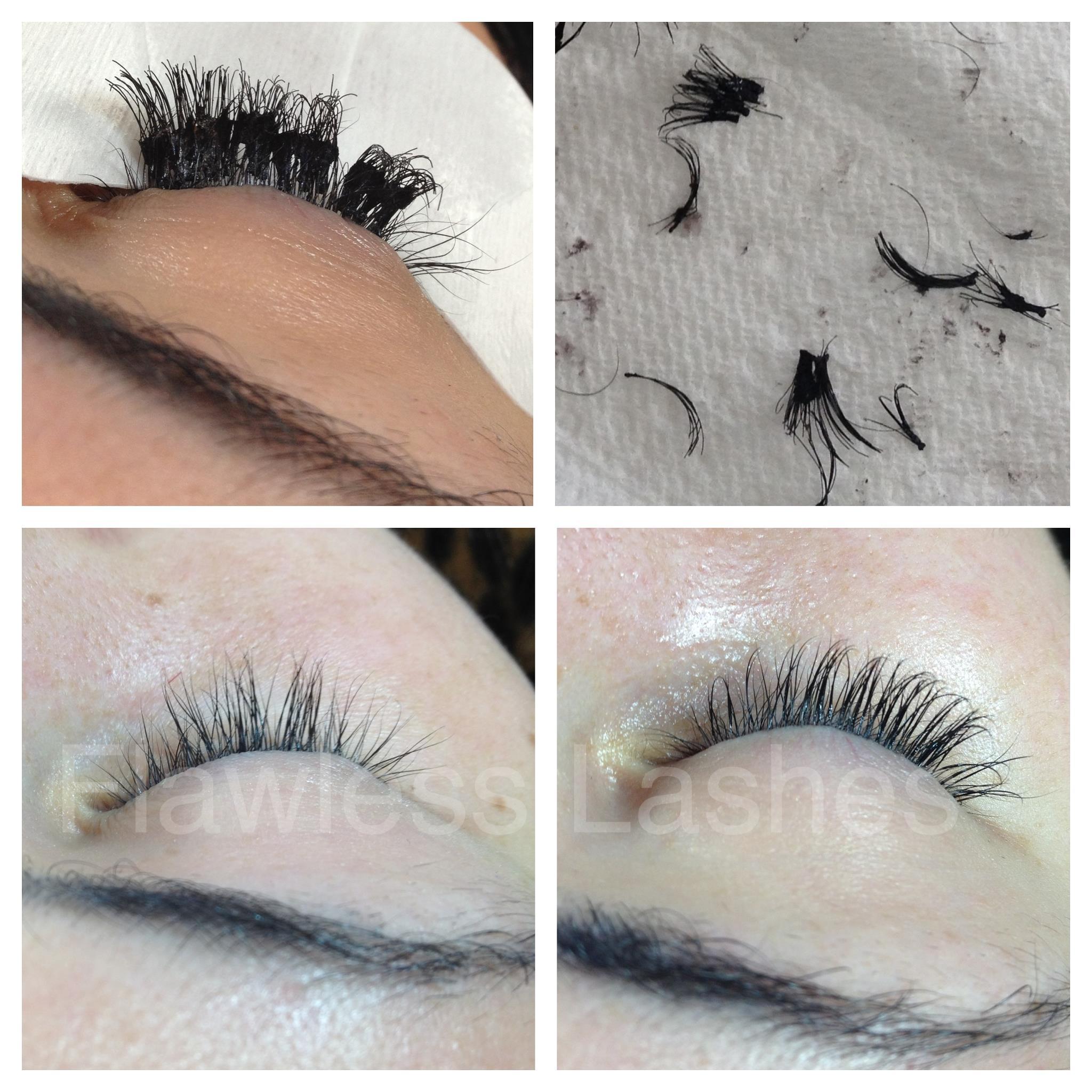 Bad Eyelash Extensions Flawless Lashes