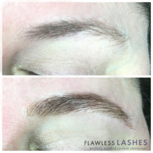 Brows, Before and After (Image 1) - Flawless Lashes