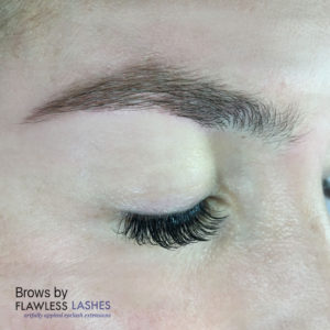 Finished Brows (Image 1) - Flawless Lashes