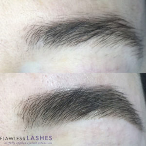 Brows, Before and After (Image 2) - Flawless Lashes