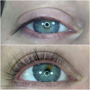 Lash lift and tint, Before and After (Image 2) - Flawless Lashes